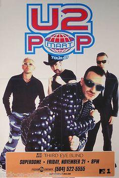 U2 THIRD EYE BLIND 1997 POP TOUR RARE CONCERT POSTER