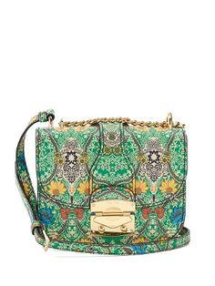 Paisley-print leather cross-body bag  | Miu Miu | MATCHESFASHION.COM US