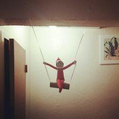 Elf on a swing