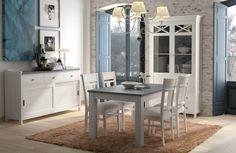 Muebles de Comedor, Dormitorios y Juveniles Double Vanity, Dining Table, House Design, Interior Design, Furniture, Verona, Home Decor, Style, Chalk Paint