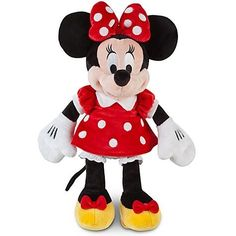 "Disney Minnie Mouse Plush 12"" In A Red Dress by Disney…"