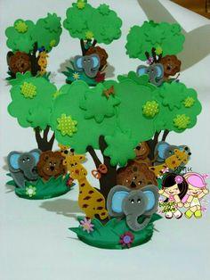 Selva Safari Theme Birthday, Boy Birthday, Paper Animals, Felt Animals, Art For Kids, Crafts For Kids, Diy And Crafts, Baby Shower Themes, Baby Boy Shower