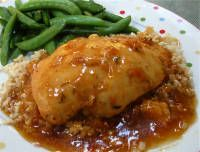 Crockpot Apricot Chicken.  The best crock recipe I have ever had!