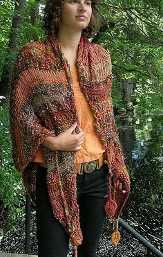Ravelry: Four Winds Wrap pattern by Jane Thornley Knitted Coat Pattern, Crochet Poncho Patterns, Crochet Quilt, Knit Or Crochet, Knitted Shawls, Crochet Shawl, Knitting Patterns, Knitting Projects, Creative Knitting
