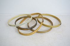 Colorful Vintage Metal Embroidery Hoops by thedancingwren on Etsy