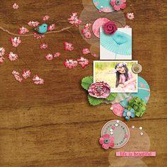 Digital Scrapbook - SAKURA COLLECTION | ForeverJoy | Cherry Blossoms perfect for Spring Scrapbooking