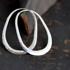 Hey, I found this really awesome Etsy listing at https://www.etsy.com/listing/212041380/oval-hoop-earring-sterling-silver