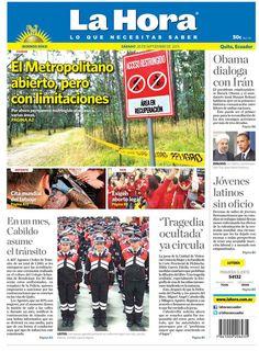Hoy en portada: El Parque Metropolitano abierto, pero con limitaciones. En un mes, Cabildo asume el tránsito. 'Tragedia ocultada' ya circula.