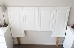 headboard from cabinet door castoffs