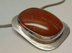 Snakeskin Jasper and silver pendant. Pendant Design, Snake Skin, Jasper, Pendants, Silver, Hang Tags, Pendant, Charms, Money