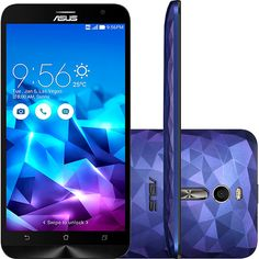 Smartphone ASUS Zenfone Deluxe Dual Chip Desbloqueado Android 5.0 Tela 5.5 128GB 4G 13MP- Roxo