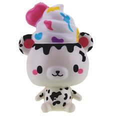 Yummiibear Country Cow Squishy 14cm Slow Rising With Packaging Collection Gift Soft Toy