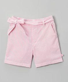 Look what I found on #zulily! Pink & White Seersucker Shorts - Infant, Toddler & kids #zulilyfinds