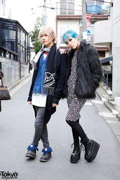 Taro (left, 17 years old, student) & Marimo (right, model) | 26 January 2014 |