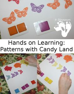 Hands on Learning: Patterns with Candy Land - 3Dinosaurs.com