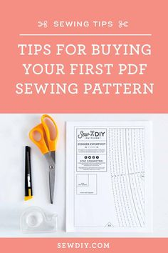 Tips and advice for buying, downloading, storing and using pdf patterns with ease and success Pdf Sewing Patterns, Sewing Hacks, Create Your Own, Tips, Stuff To Buy, Advice