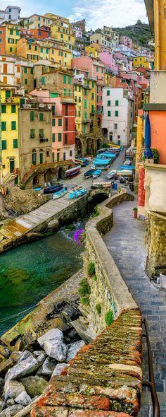 In colorful Riomaggiore, Italy.