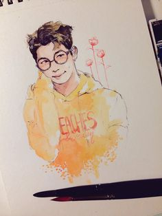 Rapmon Fanart - Credit goes to the rightful owner of this fine piece of work ♡ also this is beautiful