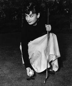 Audrey Hepburn is one classy #golfer #golf #golfy