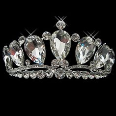 Fine Alloy With Rhinestone And Pearl Bridal Tiara - USD $ 29.99