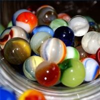 The game of marbles would be so boring to the kids today.