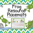 Frog Resource Placemats from TPT. Perfect for a Froggy themed classroom, this pack contains five different designs. Choose your favorite for your whole class or give each group a different design.