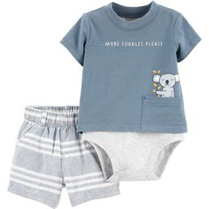 He'll be ready for more cuddles in this boy's carter's mock-layer bodysuit and striped shorts set. Body Suit With Shorts, Carters Baby Boys, Boy Shoes, Striped Shorts, Baby Boy Outfits, Kids Fashion, Bodysuit, Silhouette, Short Set