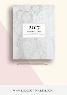 2017 Planner Printable 2017 Monthly Planner 2017 von EllagantInk