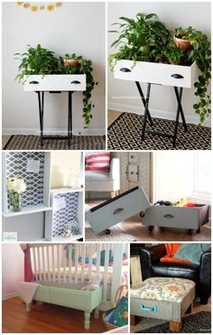 Cheap Home Decor Repurpose your old drawers into fun DIY furniture projects or use them for additional storage and organization. Home Decor Repurpose your old drawers into fun DIY furniture projects or use them for additional storage and organization. Diy Furniture Projects, Furniture Makeover, Home Projects, Furniture Stores, Bed Furniture, Furniture Design, Furniture Making, Concrete Furniture, Furniture Outlet