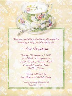 english tea party invitations | Tea Party Invitations