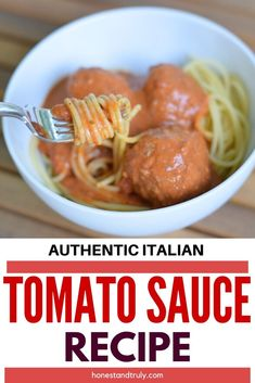 You have got to try this homemade Italian tomato sauce recipe. It takes just 15 minutes to simmer and has an incredibly delicious and authentic flavor. This is the best marinara sauce I use for everything from spaghetti and meatballs to lasagna to pzza and more. #homemade #italian #tomatosauce #marinara #authentic #pizza Italian Tomato Sauce, Homemade Tomato Sauce, Tomato Sauce Recipe, Homemade Pasta, Dinner Party Recipes, Entree Recipes, Dinner Ideas, Gf Recipes, Meal Ideas