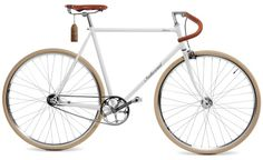 """cool for a mobile lifestyle: retro bike """"Indienrad Racer"""" in brown and white 