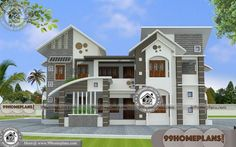 Contemporary Kerala House Plans with Two Floored Awesome Structures