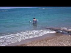 Seatrac- access into sea in Polis Cyprus - YouTube