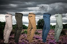 Chasen's. New arrivals.The Mason's slimfit chinos in winter colors at Chasen's Utrecht and London City Club Rotterdam. Photo taken as a favor to my brother.