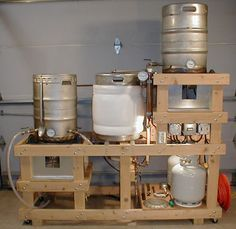 Brewery Construction Guide The following is a step-by-step guide to the construction of a complete home brewery system. Designed with burner heat shielding and built-in plumbing for mash, cooling and cleaning water re-circulation.