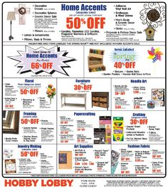 1000 ideas about hobby lobby sales ad on pinterest