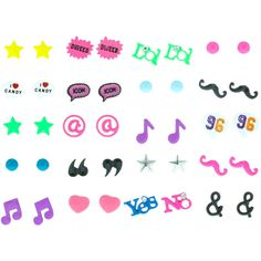 20 Pack Fun Brights Stud Earrings and other apparel, accessories and trends. Browse and shop 2 related looks.