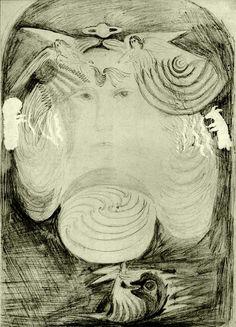Original pencil sketch by Rudolf Steiner of the motifs of the glass windows