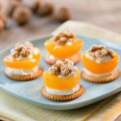 Aprikosen-Kräcker Dinner For One, Tapas, Party Buffet, Snacks Für Party, Mini Cupcakes, Finger Foods, Panna Cotta, Cheesecake, Muffin