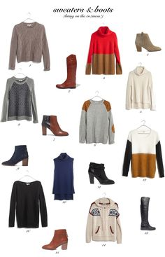 cozy sweaters and boots