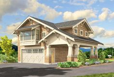 Craftsman Garage Apartment - 23484JD | Architectural Designs - House Plans