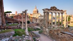 Outdoor photo of the Roman Forum.