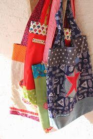 Sodele, bald geschafft... heute sind ein paar Kindertaschen dran, oder bunte Einkaufsbeutel oder bunte Flötentaschen oder bunte Taschen fü...