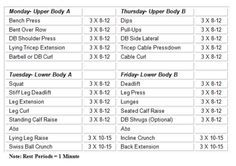 weight lifting workout sheets