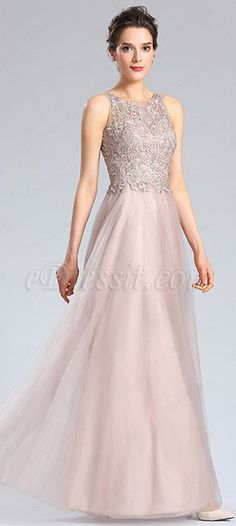 Halter Neck Embroidery Bodice Prom Dress Formal Gown (36182446) b2c4c4d6f1