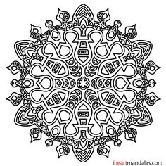 Simple Mandala 04 - from iheartmandalas.com