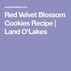 Red Velvet Blossom Cookies Recipe   Land O'Lakes