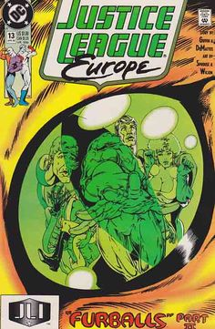 Justice League Europe Very Fine/Near Mint #13 Comic Book Publishers, Dc Comic Books, Time Warner, American Comics, Justice League, Book Publishing, Dc Comics, Things To Sell, Mint