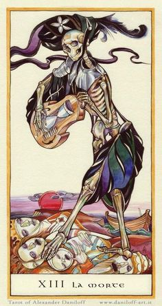 La Morte (Death), by Alexander Daniloff, the Alexander Daniloff Tarot.